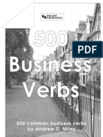 500 Common Business Verbs English to Spanish