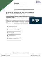 El Consenso de Normas de Aula y Su Relación Con Bajos Niveles de Violencia Escolar