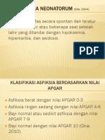 Asfiksia Neonatorum (IDAI, 2004)