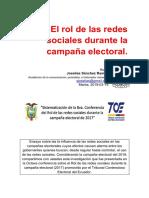 Redes sociales y campaña electoral