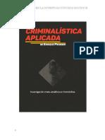 Criminalistica aplicada de Enrique E.J. Prueger