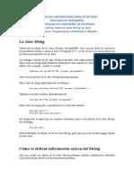 Práctica Sobre La Clase String