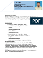 CV for Contractor
