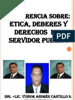 Etica Deberes y Derechos Del Servidor Publico Presentacion Powerpoint