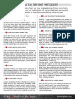 13 Bad Photography Habits PDF