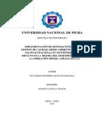 Implementación de sistema integrado de gestion
