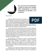 Anti-Apec Chile 2019