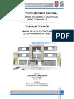 Memoria de cálculo estructural conjunto habitacional Bizet.pdf