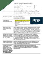 marisa palmerin-flores - cunningham senior capstone product proposal