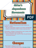 independence movements sehighlighted