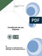 Informe Técnico Constitucion de Una Empresa Sin Nombre