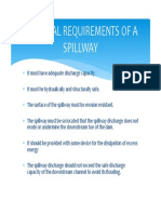 Essential Requirements of a Spillway