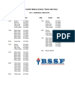BSSF Middle School Inter-School Schedule