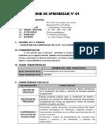 2) Unidad Didactica Nº 01 - 1º Grado