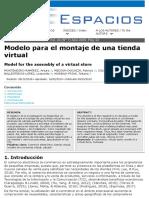 Modelo para el montaje de una tienda virtual