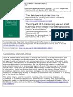 Base Study the Impact of E-marketing Use on Small