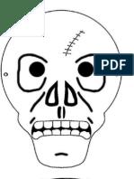 Máscaras y títeres día de muertos