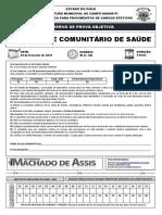 Caderno de Prova Agente  de saúde