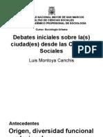 Luis Montoya Debates Iniciales 1