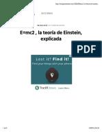 E=mc2 , la teoría de Einstein, explicada