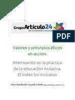 Clase 4 Valores y Principios Éticos en Acción - Aterrizando en La Práctica de La Educación Inclusiva