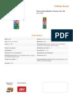 Pintura Spray Metalico Premium Oro 18K