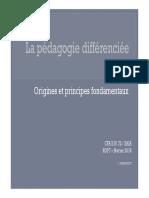 La Pédagogie Différenciée_Atelier Projet