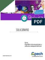 Solucionario Guía Equilibrio de Ecuaciones y Cálculos Estequiométricos