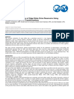 Prediction Water Influx of Edge Water Drive Reservoir Using Nonparametric Optimal Transformation