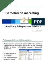 Curs 7 Cercetari de Marketing