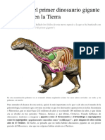 Descubren el primer dinosaurio gigante que existió en la Tierra.docx