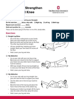 Knee and hip strengthening