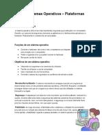 0823- Sistemas Operativos – Plataformas