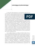000 Le statut phénoménologique du phénoménologue