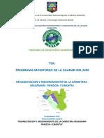 Informe de Monitoreo Ambiental Calidad Del Aire