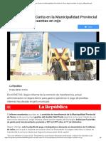 Gestión de Fidel Carita en La Municipalidad Provincial de Tacna Dejará Cuentas en Rojo _ LaRepublica.pe
