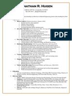 resume hugen 2-12-19