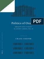 Copia de COOPER (2007) Politics of Orality (Mnemosyne, Bibliotheca Classica Batava Supplementum).pdf