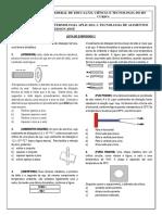 Lista de Exercicios 2 - Dilatacoes Termica