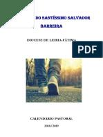 Calendário Pastoral 2018/2019