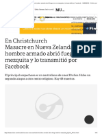 Masacre en Nueva Zelanda_ Un Hombre Armado Abrió Fuego en Una Mezquita y Lo Transmitió Por Facebook - 14-03-2019 - Clarín.com