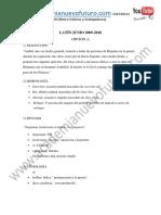 Examen Latin Selectividad Madrid Junio 2010 Solucion