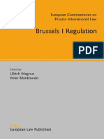 Ulrich Magnus, Peter Mankowski-Brussels I Regulation (European Commentaries on Private International Law) (2007).pdf