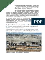 Informacion Para Desastres Naturales