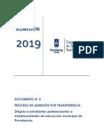 ADMISION TRANSFERENCIA 2019