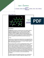 Cipro Molecular Structure -- Ciproflaxin Molecule - World of Molecules