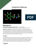 Epinephrine Molecule - World of Molecules