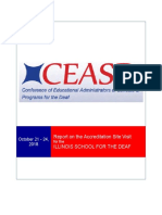 Report on Illinois School for the Deaf