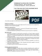 Presentación Proyecto Final de Curso-mecanica Para Ingeniería-2018-II