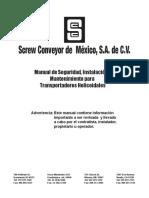 Manual de Seg. Inst. y Mantto. Transportadores Helicoidales